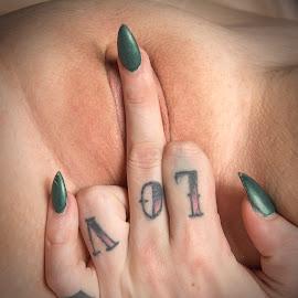 Fuck you love by Gary Bradshaw - Nudes & Boudoir Artistic Nude ( love, sexy, thebird, fuckyou, closeup )