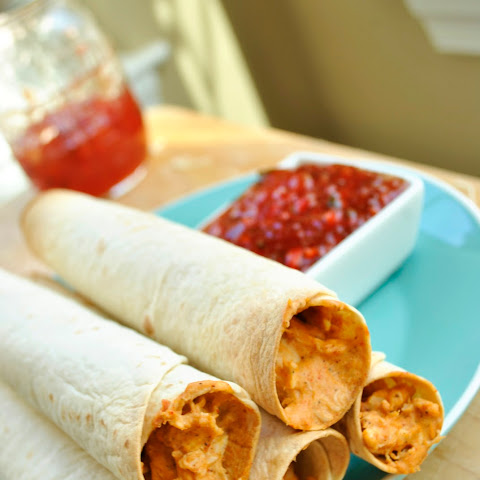 Chicken Flautas with Sweet and Spicy Jalapeno Sauce