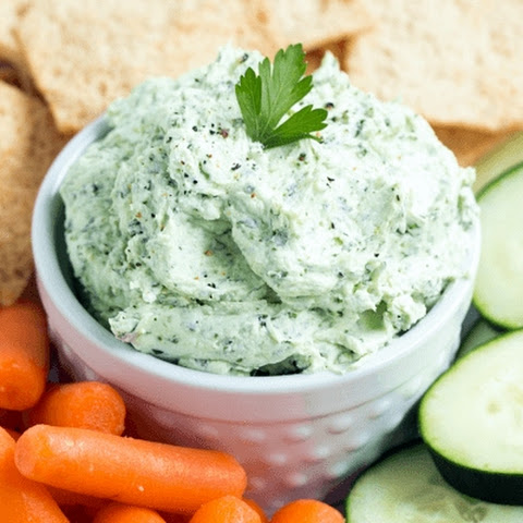 Super Green Whipped Goat Cheese