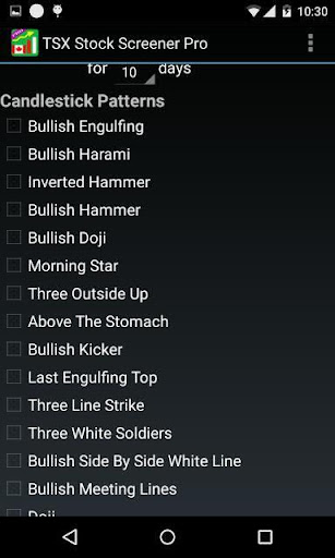 TSX Stock Screener PRO - screenshot