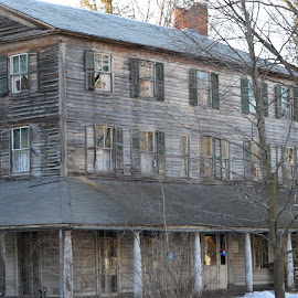 This old House by Sarah Burroughs-McGehee - Buildings & Architecture Public & Historical ( unpainted, old, winter, house, natural,  )