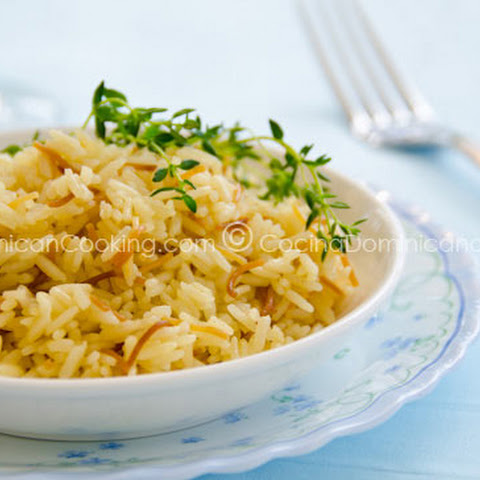 Arroz con Fideos - Bil Shareyah Recipe (Rice and Fried Noodles)