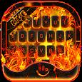Live 3D Burning Fire Keyboard Theme
