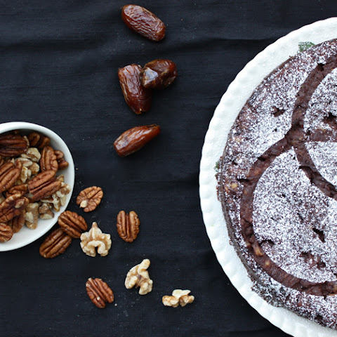 Chocolate Walnut Pecan Date Pie [v, gf]