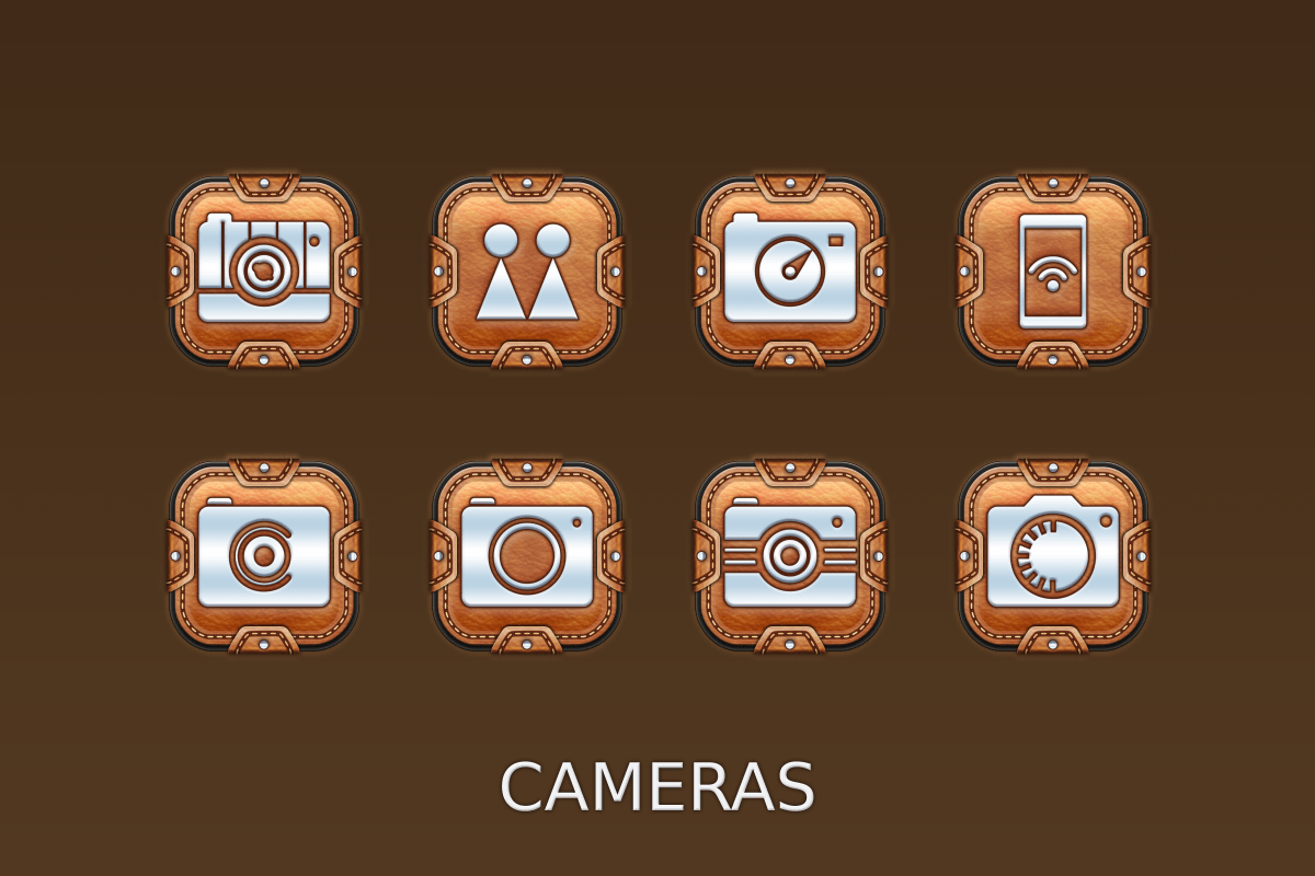 Leather Pouch-Icon Pack Screenshot 11