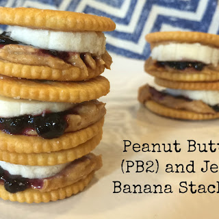 Peanut Butter and Jelly Banana Stackers #PB2