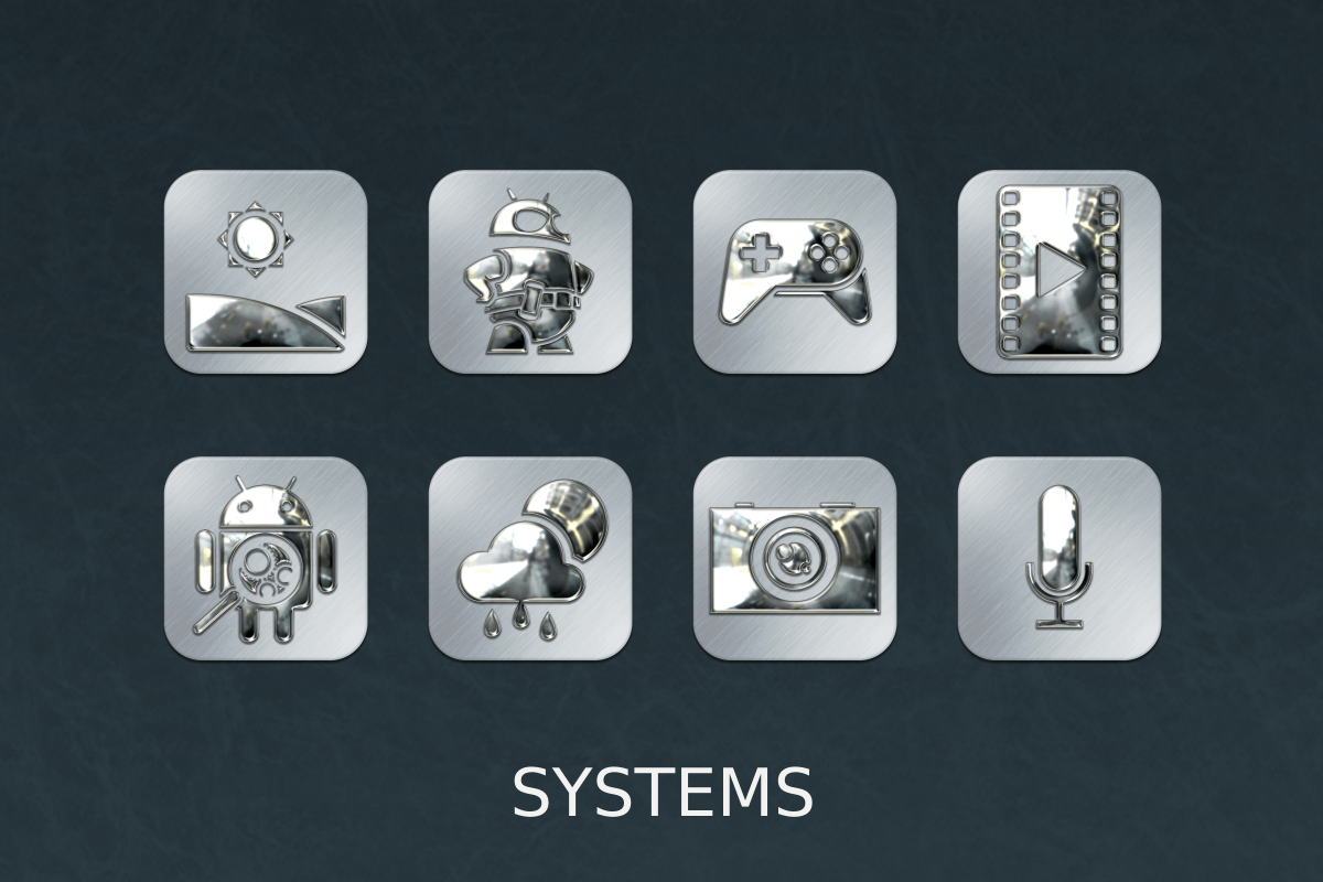Silver Chrome Icon Pack Screenshot 9