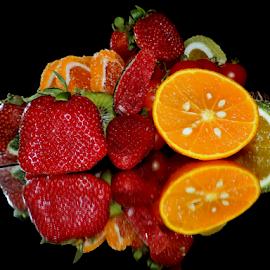 fruits with candys by LADOCKi Elvira - Food & Drink Fruits & Vegetables ( orange, fruits )