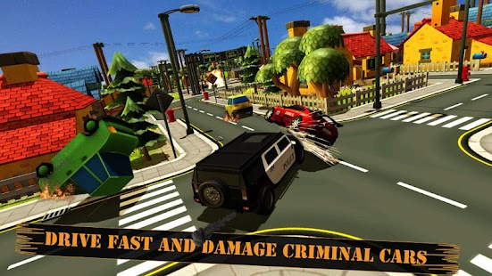 smash cop police car chase 911