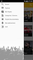 Screenshot of music reggaeton