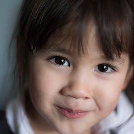 Young Girl, Close Up by Jamie Ledwith - Babies & Children Children Candids ( colour, girl, dof, personality, smile, eyes )