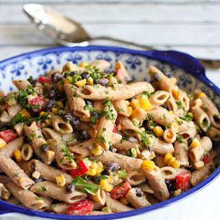 Southwestern Pasta Salad with Yogurt Salsa Dressing