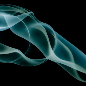 Tendons by Kate Anthony - Abstract Fine Art ( turquoise, abstract art, waves, smoke photography, smoke patterns )