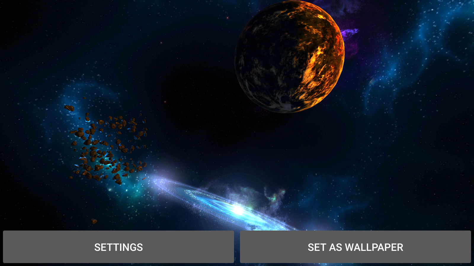 3D Galaxies Exploration LWP Screenshot 8