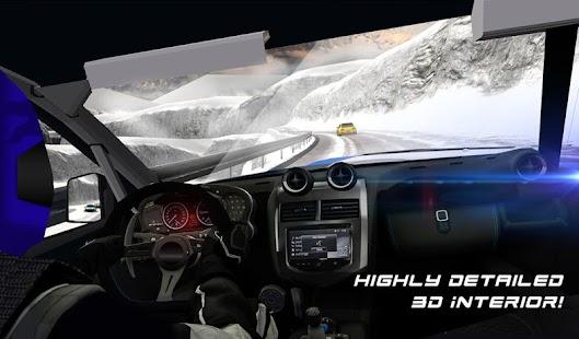 Winter Snow Car Rally Racing- screenshot thumbnail