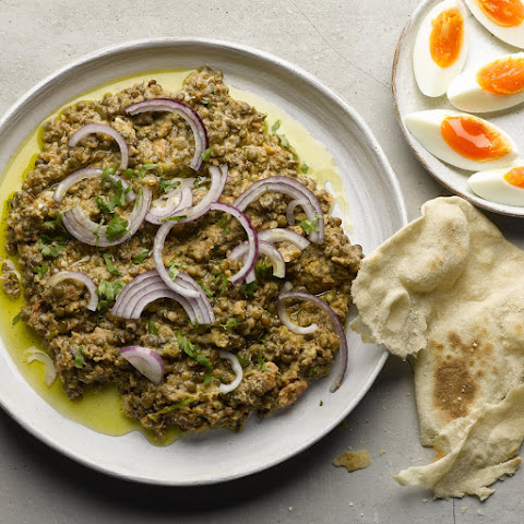 Crushed Puy Lentils With Tahini And Cumin