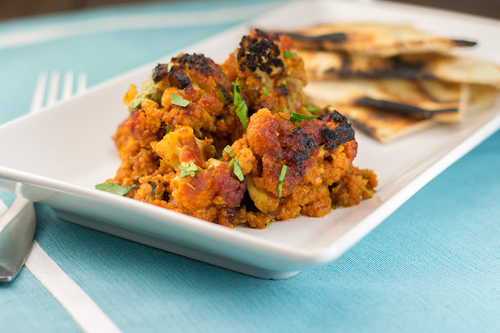 Baked Caulifower with Indian Spiced Tomato Sauce Recipe | Yummly