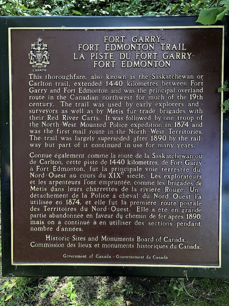 this thoroughfare, also known as the Saskatchewan or Carlton trail, extended 1440 kilometres between Fort Garry and Fort Edmonton and was the principal overland route in the Canadian northwest for ...