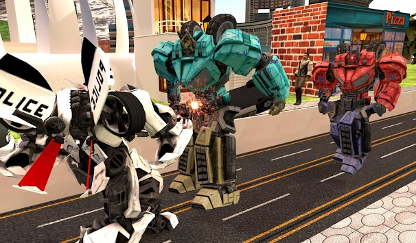Robots War In City APK screenshot thumbnail 1