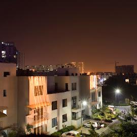 NIght Glow  by Gaurav Kumar - City,  Street & Park  Night ( night view, night photography, nighttime, long exposure, night, longexposure, night shot, nightscape )