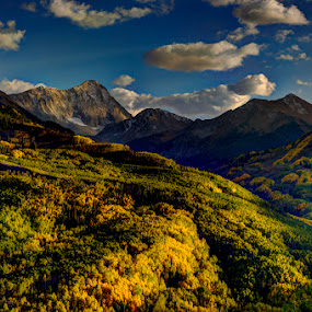 First Snow by Tom Cuccio - Landscapes Mountains & Hills ( capitol peak fall colors snow first landscape coloroad )