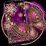 Purple Gold Butterfly Keyboard Icon
