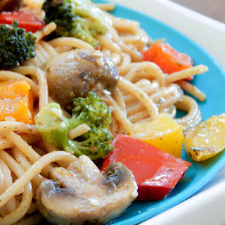 Clean Eating Pepper Loaded Vegetarian Spaghetti
