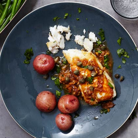Halibut with Lemon-Caper Sauce