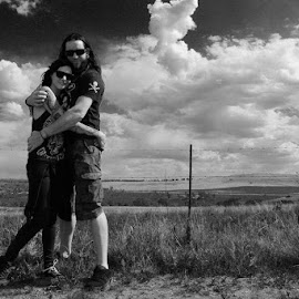 Twin Flames by Natasha Hinrichsen - People Couples ( lovers, nature, forever, black and white, partners, twin flames, my best friend )