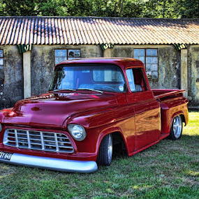 Low Rider by Peter Parker - Transportation Automobiles ( glen, twinwood, red, clean, pickup. truck, sidestep, miller, shiny )