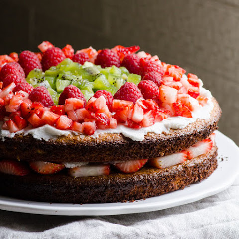 Strawberry Honey Almond Cake