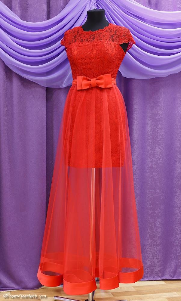 Платье вечернее с отстегивающейся юбкой