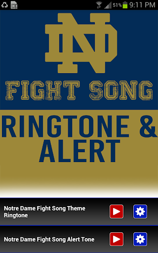 Notre Dame Fight Song Ringtone - screenshot