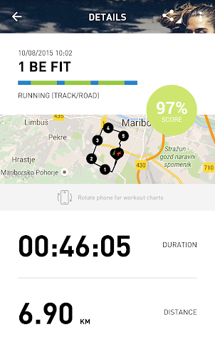 android adidas train & run BETA Screenshot 2