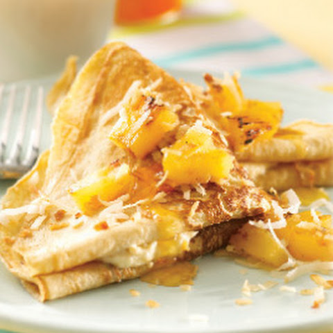 Pineapple Coconut Crepes