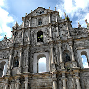 St Paul at Macau China by Silvano Rikiputra II - Buildings & Architecture Places of Worship