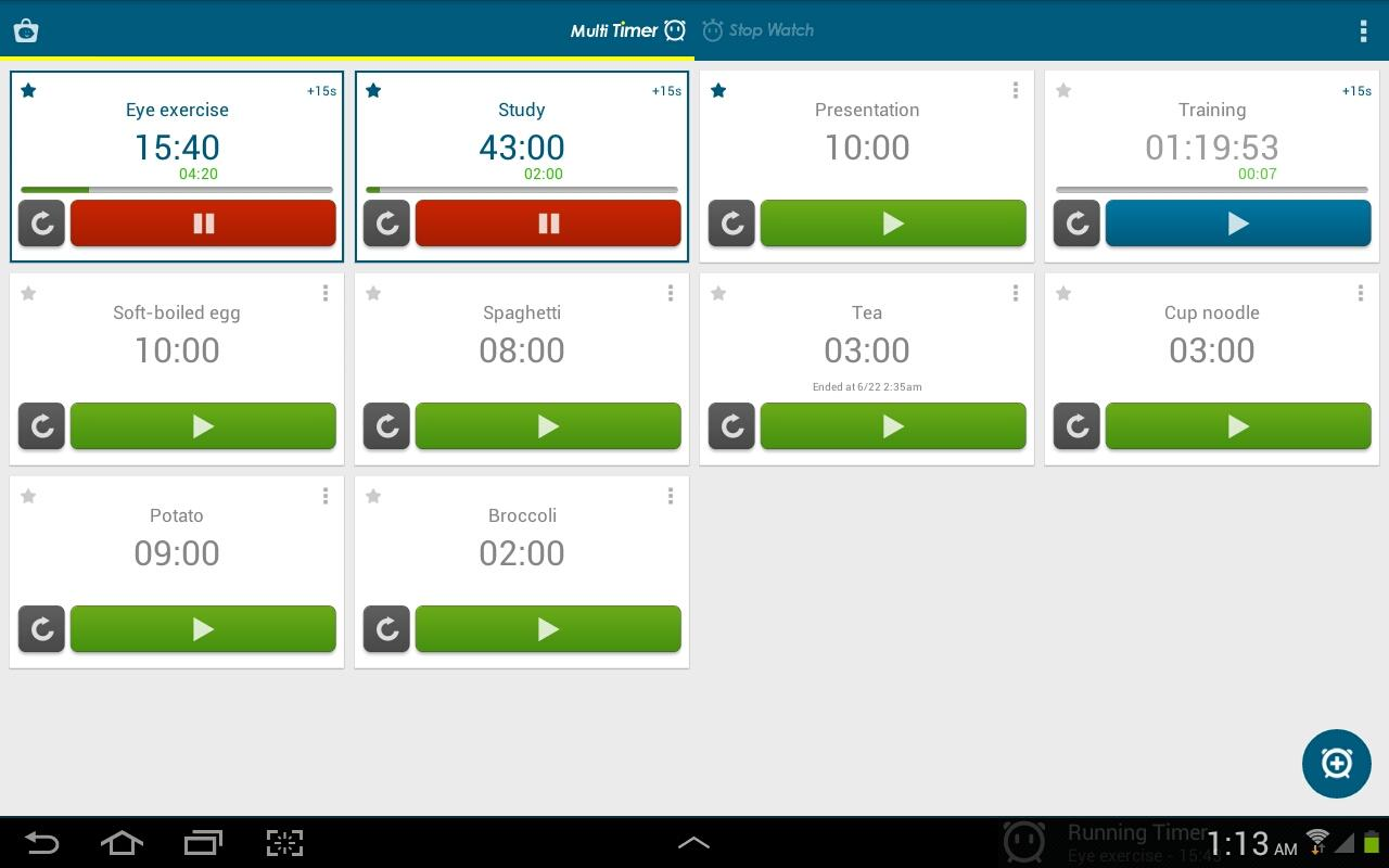 Multi Timer StopWatch Screenshot 8