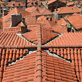 The Red Roofs. by Marcel Cintalan - City,  Street & Park  Neighborhoods ( roofs, croatia, buildings, architectural detail, architecture )