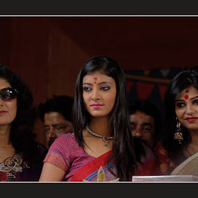 At one of the Durga Puja Pandals in Kolkata by Anupam Pal - People Portraits of Women ( durga puja )