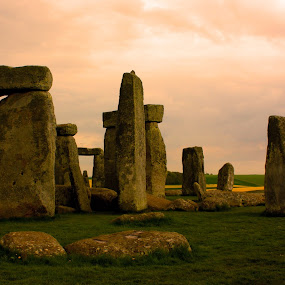 Stone Henge by Trippie Visser - Travel Locations Landmarks ( stone henge, landmark, old, grass, stones )
