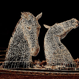 Kelpies by Janet Matthews - Artistic Objects Other Objects (  )