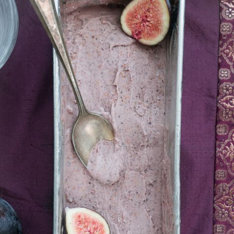Roasted Fig Gelato with Balsamic Caramel Sauce