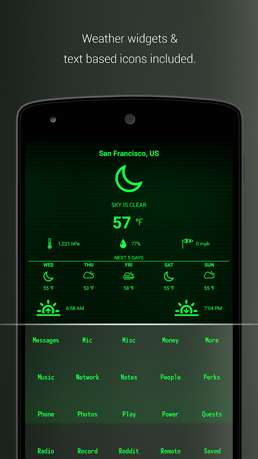 PipTec Pro - Green Icons & Live Wallpaper Screenshot 5