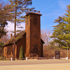 The Little Brown Church in the Vale by Diane Ebert - Buildings & Architecture Places of Worship ( #iowa, #historical, #nashuaiowa,  )