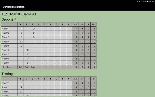 Dartball Statistician screenshot 5