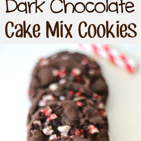 Peppermint Crunch Dark Chocolate Cake Mix Cookies Recipe!