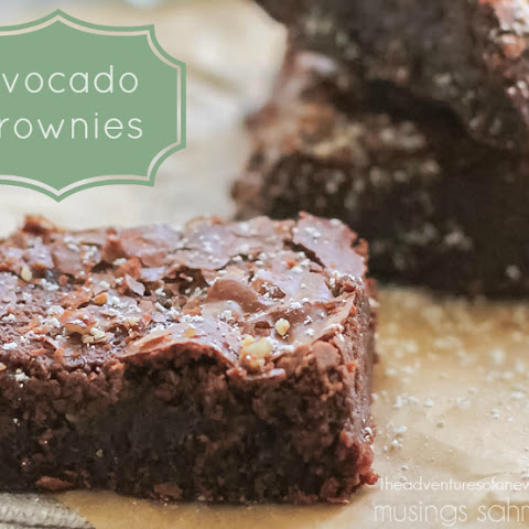 Super-Moist Guilt-Free Avocado Brownies