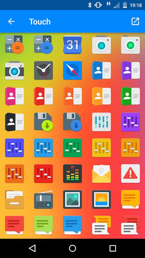 Touch - icon pack Screenshot 6
