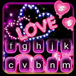 Neon Love Keyboard Theme Online PC (Windows / MAC)