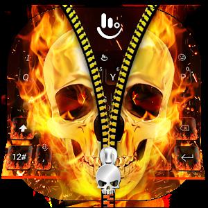 Skull Zipper Keyboard Theme the best app – Try on PC Now